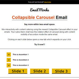 Collapsible Carousel In Email